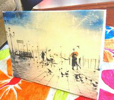 How to mod-podge a poster on canvas... cheap and easy...