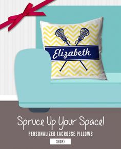 Our soft Girls Lacrosse Pillows are loved by lax girls all around! A perfect way to add lacrosse to any room. Choose your design, pick your color and add your name, team name, jersey number or monogram. With our variety of designs, you will find the perfect pillow for any lacrosse player or fan. Great Christmas gift idea for any lax girl! LuLaLax.com