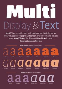 Multi - Custom Typeface Family for Dutch newspapers - Laura Meseguer