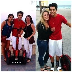 Austin with fans today!