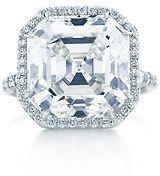 An Asscher Cut diamond ring...yes please!