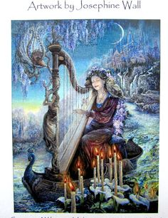 "SALE//*Cross Stitch Pattern "" Minerva's Melody"" by Heaven and Earth Designs -A Cross Stitch Chart. Artwork by Josephine Wall.//On SPECIAL!!"