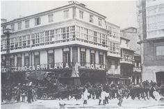 La diligencia en Coruña,entre 1800 y 1900