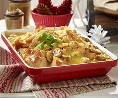 Hähnchen-Champignon-Auflauf (340 kcal)