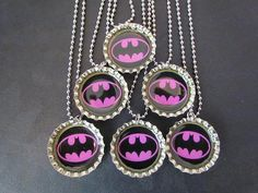 Batgirl /   Bottle Cap Party favors.....I want made for holly for her bday