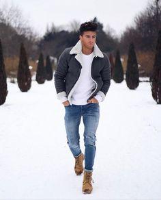 Skinny Jeans For Men Black Streetwear Hip Hop Stretch Jeans Hombre Slim Fit Fash - Men Jeans - Ideas of Men Jeans - Skinny Jeans For Men Black Streetwear Hip Hop Stretch Jeans Hombre Slim Fit Fashion Biker Ankle Tight Stylish Mens Outfits, Casual Winter Outfits, Ootd Winter, Best Winter Outfits Men, Mens Fall Outfits, Outfit Winter, Men Looks, Business Casual Men, Men Casual