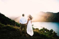I love being a wedding photographer for Adventure destination wedding / elopements!!! I love this boho bride & the Hawaii backdrop! Seattle San Luis Obispo Wedding Photography! Wanderlust Mountain Wedding! Best wedding / elopement location!