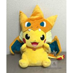 Free Pikachu Pikazard Large Size Plush Toy Giveaway! I really want people to enter this giveaway.