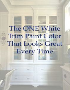ONE white trim color that will look good with everything! BM Cotton Balls