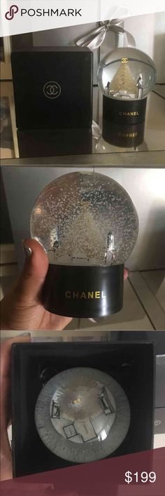 CHANEL SNOW GLOBE!!! CHANEL VIP GIFT   CHRISTMAS NOVELTY  CRYSTAL BIG SNOW GLOBE DOME Brand New With Original Packaging Box Palm Size  Measurements 8 x 6.5 cm Box Size 9.2 x 9.2 x 10 cm Chanel Other