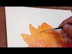 How to paint Dahla flower in Watercolor - cool lifting technique used. Watercolor Video, Watercolor Projects, Watercolor Tutorials, Watercolor Techniques, Watercolor And Ink, Watercolour Painting, Art Tutorials, Watercolor Flowers, Painting & Drawing