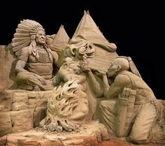 Yeah.....um that would be a sand sculpture!!! The Sand « Villafane Studios – Pumpkin Carving, Sand Sculpting, Action Figure Creating