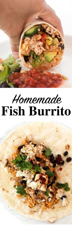 Wahoo Fish Burrito with Pineapple Salsa 45 mins to make