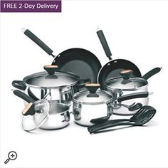 Signature Stainless Steel 12 Piece Cookware Set * You can get additional details at the image link.