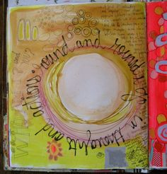 Love the colors and style Pamela Garrison uses in her journals.
