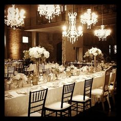 Phos Events Vintage Chandeliers And Studio Emmes Florals Were A Hit At This Headtable Reception DesignWedding