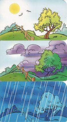 regen, logische volgorde, free printable