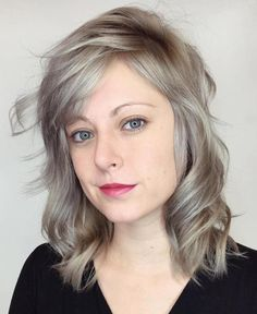 Ash Blonde Medium Hairstyle