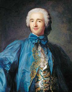 Portrait of a gentleman in a blue coat by Jean-Marc Nattier