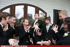funny wedding photos - Things Guys Never Do.