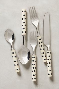 Crescendo Dot Flatware #anthropologie