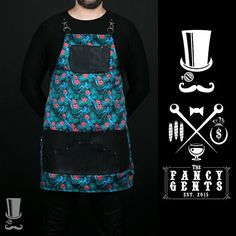 Fancy high quality printed-breathable apron exclusive designed for Bartenders and Mixologists. Cut from chest to mid-thigh, functional and very comfortable. Pockets are more than enough to help you through any situation. It gives you an amazing and outstanding style. Colour: Parrot print
