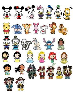 Disney cuties- they are just too cute cute disney characters, disney character drawings, Cute Disney Drawings, Kawaii Drawings, Cartoon Drawings, Cute Drawings, Drawing Disney, Disney Character Drawings, Disney Sketches, Kawaii Disney, Disney Doodles