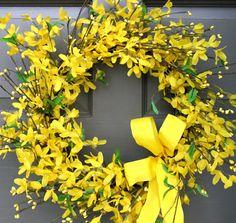 Forsythia Wreath - Creative Decorations by Ridgewood Designs