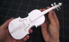 HANDSON paper craft violin.  BUY HERE-->>http://jzool.com/en/p/19867-HANDSON-Violin-Paper-Craft-Kit-PePaKuRa-/574#  ($45.80)