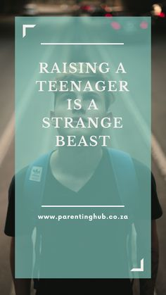 Raising a teenager is strange beast. It's not like watching your sweet baby morph into a tantrum throwing toddler or your toddler transform into a reading and writing little boy.