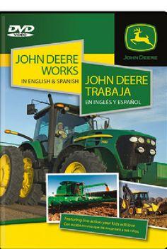 John Deere Works In English & Spanish – GreenToys4u.com #johndeere #DVD #movies