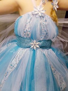 Queen Elsa Frozen Elastic Top Tutu Dress by 4EverTutus on Etsy