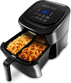 Enjoy Guilt Free Food Cooked Quickly Easy In The NuWave Brio with Digital Probe. The NuWave Brio Digital Air Fryer Cooks Your Favorite Foods To Perfection. Air Fryer Sweet Potato Fries, Air Fryer French Fries, Cool Kitchen Gadgets, Cool Kitchens, Air Fryer Sale, Oil Free Fryer, Air Fryer Review, Best Air Fryers, Cooking Appliances