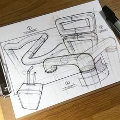 Each day, I pull out a fresh sheet of paper and practice the fundamentals of sketching in an effort to develop my skills and ultimately, effectively communicate my ideas. Pop Design, Sketch Design, Design Lab, Design Concepts, Vintage Newspaper, Retro Logos, Vintage Logos, Industrial Design Sketch, Illustrator Tutorials