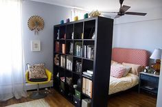 using bookshelves as room dividers - Google Search