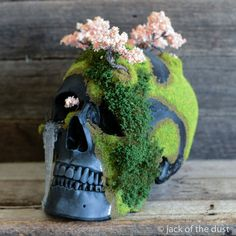 CHERRY BLOSSOM BONSAI MOUNTAIN SKULL | Made by Jack of the Dust
