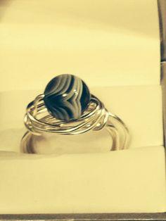 Botswana Agate Wrap Ring