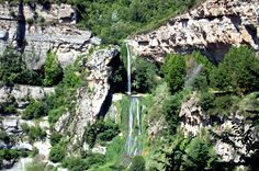 Top 10 Waterfalls in Spain. At the forefront, Sant Miquel del Fai