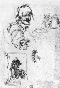 Jacques Callot Dessin (XVIIe siècle). [Galerie des Offices, Florence