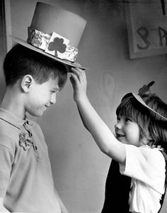 """""""It's great to be Irish every day, but it's even better today."""" Those were the words of 8-year-old George Ireland on March 17, 1970. That's his sister, Kathleen, then 6, giving him a little help with his hat. At the time, the youngsters lived with their parents on South 16th Street in Omaha. And, by the way: They attended nearby St. Patrick School."""