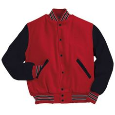 Fine cotton made Varsity jacket with beautiful buttons and with same shade ribs in bottom and in cuffs,