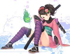 Pin this image if you play the game Muramasa: The Demon Blade! Momohime fanart by Tamakaga