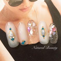 夏/海/リゾート/ハンド/グラデーション - naturalbeautyのネイルデザイン[No.3262930]|ネイルブック