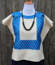 Tehuana chain stiched blouse Huipil from by OaxacanArts on Etsy, $85.00