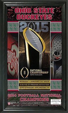 Ohio State Buckeyes Ticket Pano - 2014 National Champions (backorder)