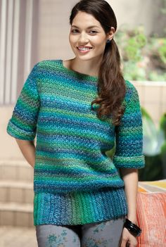 "I like the stitch and the yarn choice in this,  Lovely colors. From ""Crochet Today"" magazine."