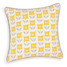 CASCAIS cotton cushion cover, yellow, 40 x 40 cm