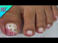 YouTube Pedicure Nail Art, Toe Nail Art, Toe Nails, Acrylic Nails, Nail Nail, Cute Toenail Designs, Toe Nail Designs, Cute Pedicures, Funky Nails