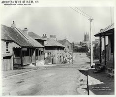Gloucester St,The Rocks in Sydney in south from little Essex Street. The Rocks Sydney, Essex Street, Historical Images, Gloucester, The Good Old Days, Street View, Australia, History, Ancestry