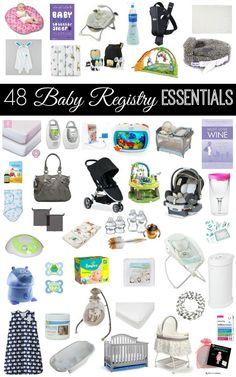 It's a question I get asked a lot...what should I put on my baby registry??? Here is an extensive list of what you SHOULD (and SHOULD NOT) have on your baby registry! This is a must-read if you are pregnant! Also doubles as a list of baby shower or new baby gifts :)